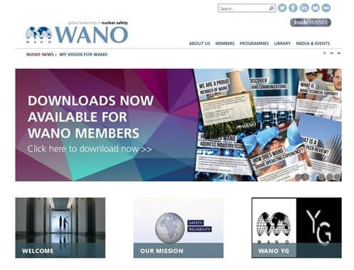 WANO Website Sharepoint Server Website